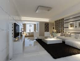 room fabio black modern: modern white marble flooring for living room with black carpet and sofa sets images standard