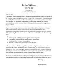 Receptionist Cover Letter For Resume  cover letter sample cover     happytom co Free Cover Letter Builder   saleathome   secretary cover letter