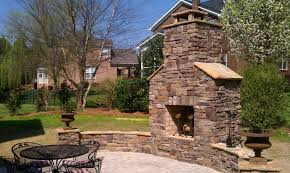 outdoor fireplace paver patio: outdoor living area paver patio outdoor fireplace seating walls
