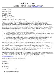 information technology cover letter technology cover letters