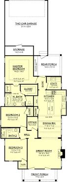 Bed Narrow Lot Cottage Home Plan   HZ   st Floor Master    Floor Plan