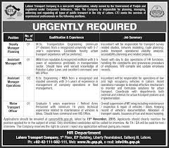job opportunities in lahore transport company st