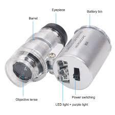 1pcs <b>Handheld Protable Pocket Mini</b> 60X Microscope Jeweler ...