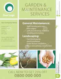 garden and maintenance flyer template stock images image  garden and maintenance flyer template