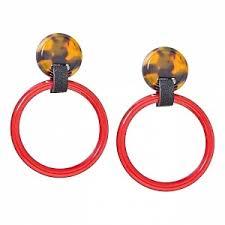 <b>Леопардовые серьги с</b> красными кольцами - купить за 3 200 руб ...
