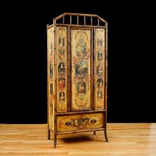 english bamboo wardrobe or armoire with decoupage c 1880 antique english wardrobe armoire