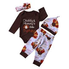 <b>4Pcs Sets</b> Newborn <b>Baby Girl Boy</b> Clothes Letter Print Rompers ...