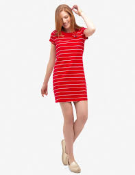 STRIPED BUTTON SHOULDER DRESS - <b>U.S. Polo</b> Assn.