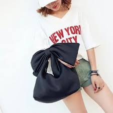 <b>Hot Sale Fashion</b> Women Solid Bow Tie <b>Bag</b> Satchel Hobos ...