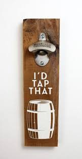 wood sign glass decor wooden kitchen wall: id tap that wall mounted bottle opener artisans bench wood sign glass decor wooden kitchen