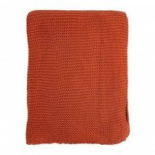 <b>Плед жемчужной вязки терракотового</b> цвета Essential, 180х220 см