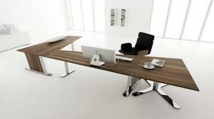 home office desks long flowing sleek black shaped office desks