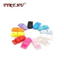<b>TYRY</b>.<b>HU 20Pcs</b> Multicolor Round Head Pacifier Clip Holder Baby ...