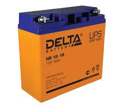 Аккумуляторная <b>батарея Delta HR 12-18</b> (12V; 18Ah)