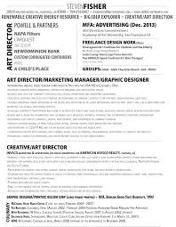 director resume sample customer service resume director resume amazing resume creator cre8ive differences llc steven fisher art director cv 2013