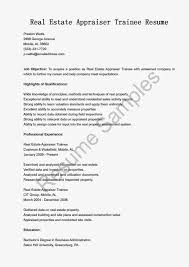 real estate appraiser trainee resume sample resume samples resumes samples are available you can use as an example resume for your reference they re prepared in a professional manner