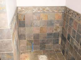 slate bathroom tiles strip grouted wall slate with design strip