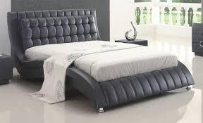 modern leather beds bedroom