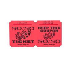 Raffle Tickets | Paper Raffle Tickets Red 50/50 Marquee Raffle Tickets - 1000/Roll ...