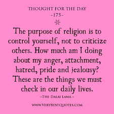 Religion quotes, Dalai Lama quotes, Thought For The Day ...