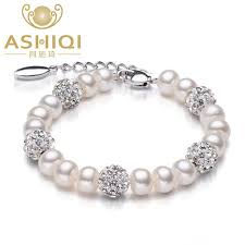 real natural freshwater pearl necklace wedding for women fashion silver mother of jewelry