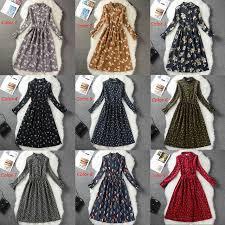 Online Shop Corduroy High Elastic Waist Vintage Dress A-line Style ...