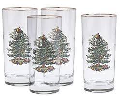 Spode Christmas Tree Hiball Glasses, Set of 4 ... - Amazon.com