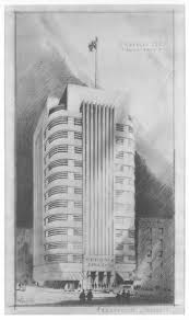 office tower retail stores 1935 s charles lee date unknown unbuilt art deco office tower piet