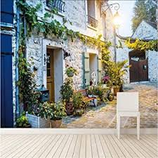 Lifme <b>Custom Photo</b> Wallpaper 3D Old House <b>Garden</b> Landscape ...