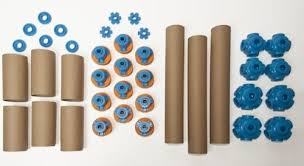 toobalink turns cardboard tubes into construction toys cardboard tubes