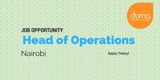 job vacancy head of operations duma works apply for head of operations role