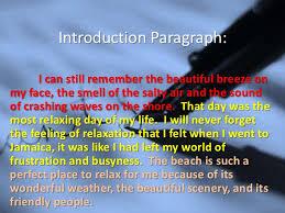 descriptive writing at the beach essay COGEST