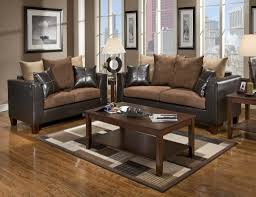 Casual Contemporary Chocolate Brown Sofa U0026amp Love Seat Living Room