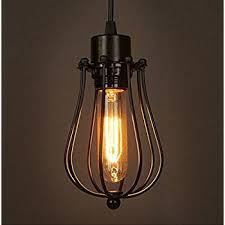 vintage ceiling lighting. Modern Vintage Industrial Metal Cage Loft Pendant Lamp Ceiling Light Shade Retro E27 Socket 1Light Lighting E