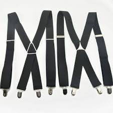 Trendy <b>Men's Suspenders 4 Clips</b> Elastic Adjustable Braces Men ...