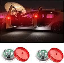 HSR 2pcs LED <b>Car</b> Door Light <b>Wireless Magnetic</b> Induction Strobe ...
