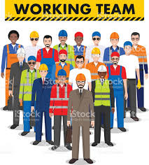 group of worker builder and engineer standing together working 1 credit