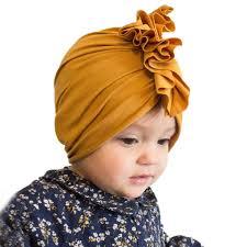 <b>2019 Spring Autumn</b> Kids Hats <b>Turban</b> Solid Strip Leopard Newborn ...