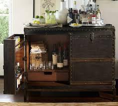 ludlow black trunk bar cabinet bar trunk furniture
