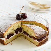 <b>Fresh</b> Cherry Sponge with <b>Pistachios and</b> Almonds