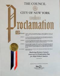 new york schools celebrate day of awareness for radiology blog proclamation certificate presented to dr hedvig hricak and colleagues