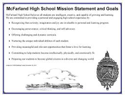 mcfarland school district mcfarland high school mhs mission statement