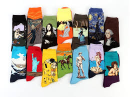 Fashion Art Cotton Crew Printed Socks Painting Character Pattern ...