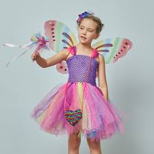 Maple Leaves <b>Butterfly Fairy</b> Tutu Skirt Fancy Dress up Girl Kids ...