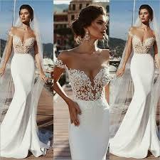 <b>Vestido de novia Sexy</b> Blanco Formal Vestidos Escote en V sin ...