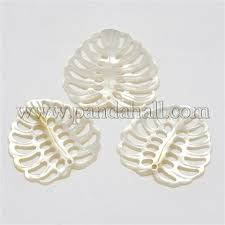<b>Wholesale</b> Natural Mother of Pearl <b>Shell Pendants</b>, Monstera Leaf ...