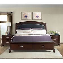 elaine platform storage bed and nightstands 3 piece set assorted sizes bed furniture image