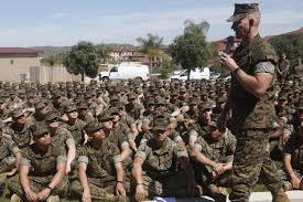 home u s marine sgt maj troy black leads a regimental town hall meeting on marine