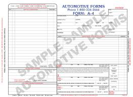 body shop forms the body shop invoice a 4 features large areas for parts listings outside sublet repairs and a revised estimate area for your protection it also