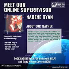 Teacher of the Day  Nadene Ryan of Homework HELP  Book  amp  Sign up     Pinterest Teacher of the Day  Nadene Ryan of Homework HELP  Book  amp  Sign up